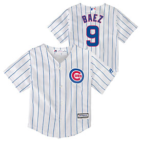 Chicago Cubs Javier Baez Toddler Home Replica Jersey