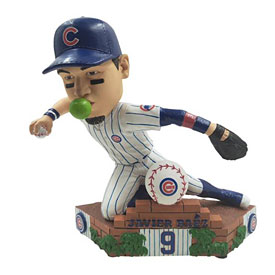 Chicago Cubs Javier Baez Sliding Throw Bobblehead