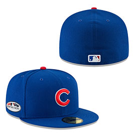 Chicago Cubs 2018 Postseason Authentic 59FIFTY Fitted Cap a3665ab33e