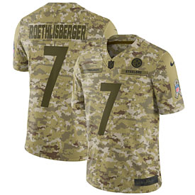 Ben Roethlisberger Pittsburgh Steelers Nike Salute to Service Limited Jersey – Camo