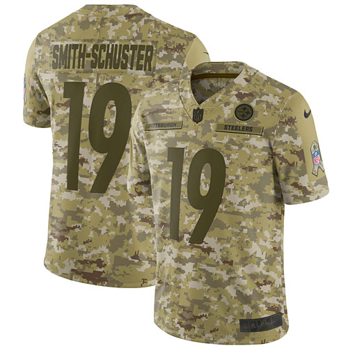 best sneakers 03545 ee827 JuJu Smith-Schuster Pittsburgh Steelers Nike Salute to Service Limited  Jersey – Camo