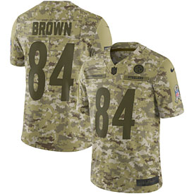 Antonio Brown Pittsburgh Steelers Nike Salute to Service Limited Jersey – Camo
