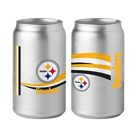 Pittsburgh Steelers Chrome Glass Can