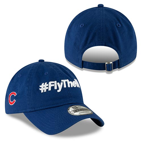 Chicago Cubs  Fly The W Slogan Adjustable Cap 289f8dd45bc