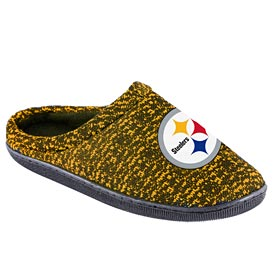 Pittsburgh Steelers Poly Knit Sole Slide Slippers