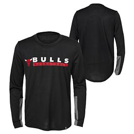 Chicago Bulls Youth Covert Long Sleeve Performance Tee