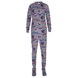 Chicago Cubs Concepts Sport Achieve Fleece Union Suit - Gray