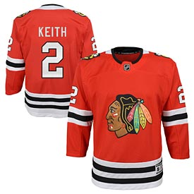Chicago Blackhawks Duncan Keith Youth Red Premier Jersey w/ Authentic Lettering