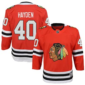 Chicago Blackhawks John Hayden Youth Red Premier Jersey w  Authentic  Lettering 5142c00e3e8