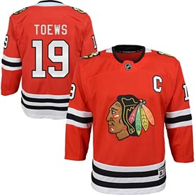 Chicago Blackhawks Jonathan Toews Youth Red Premier Jersey w/ Authentic Lettering