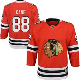 Chicago Blackhawks Patrick Kane Youth Red Premier Jersey w/ Authentic Lettering