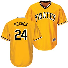 Pittsburgh Pirates Chris Archer Gold Replica Cool Base Jersey