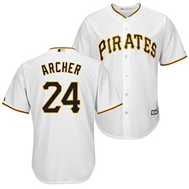 Pittsburgh Pirates Chris Archer Home Replica Cool Base Jersey