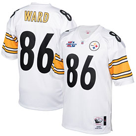 Pittsburgh Steelers Hines Ward Mitchell and Ness Super Bowl XL Jersey