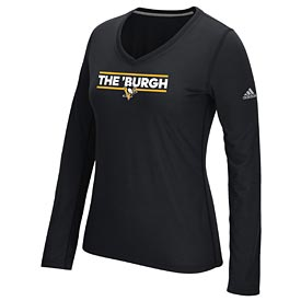 "Pittsburgh Penguins Ladies Long Sleeve ""The Burgh"" Tee"
