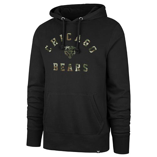 Chicago Bears Headline Camo Pullover Hood Sweatshirt