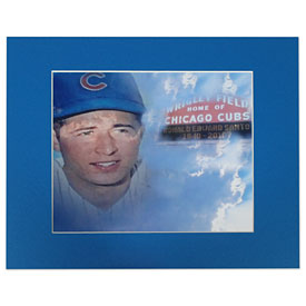 "Chicago Cubs Ron Santo 8"" x 10"" Matted Picture"