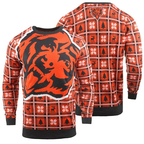 Chicago Bears Big Logo Ugly Sweater